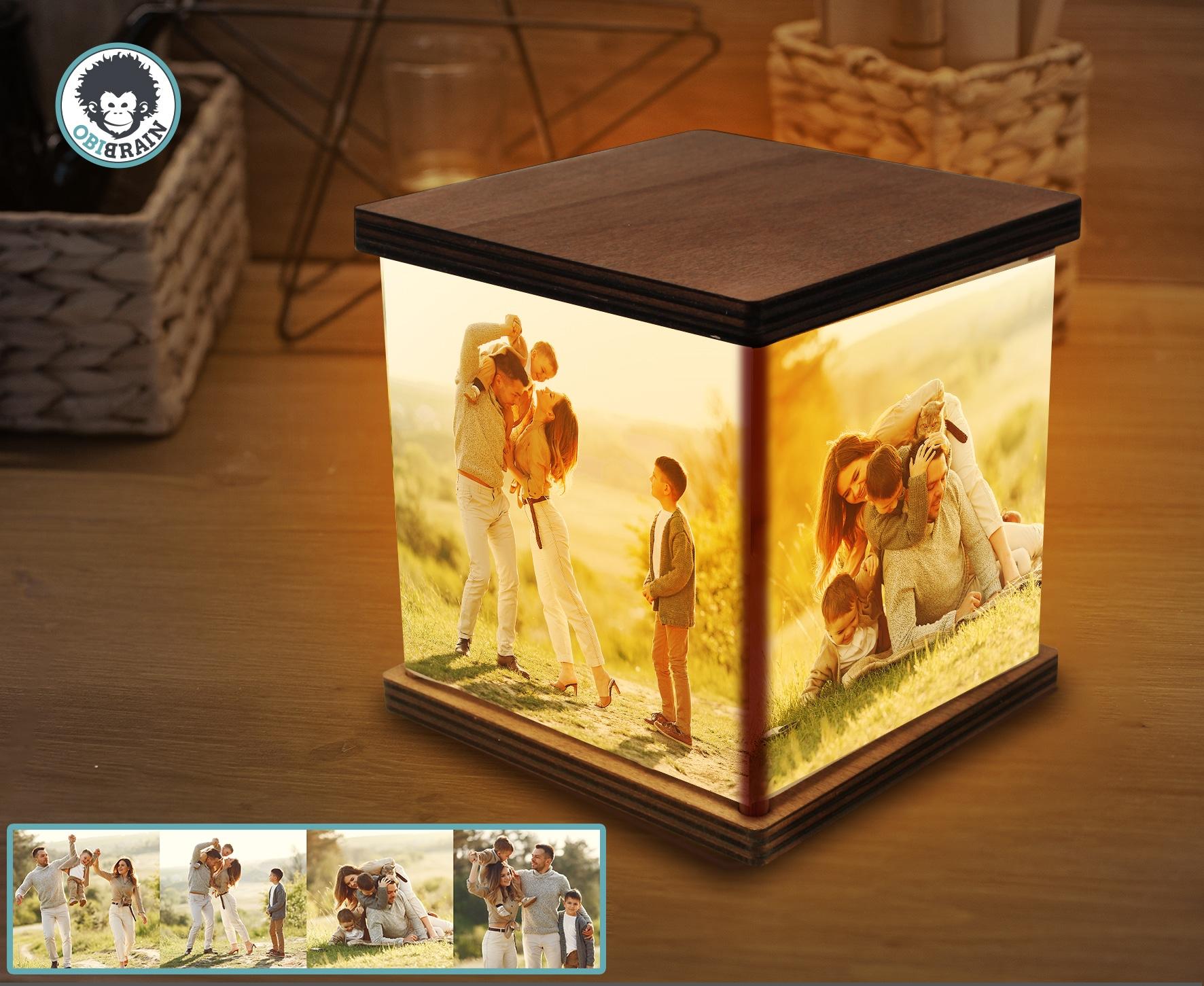 Lampada Cubo Personalizzabile Lampada Da Tavolo Obibrain
